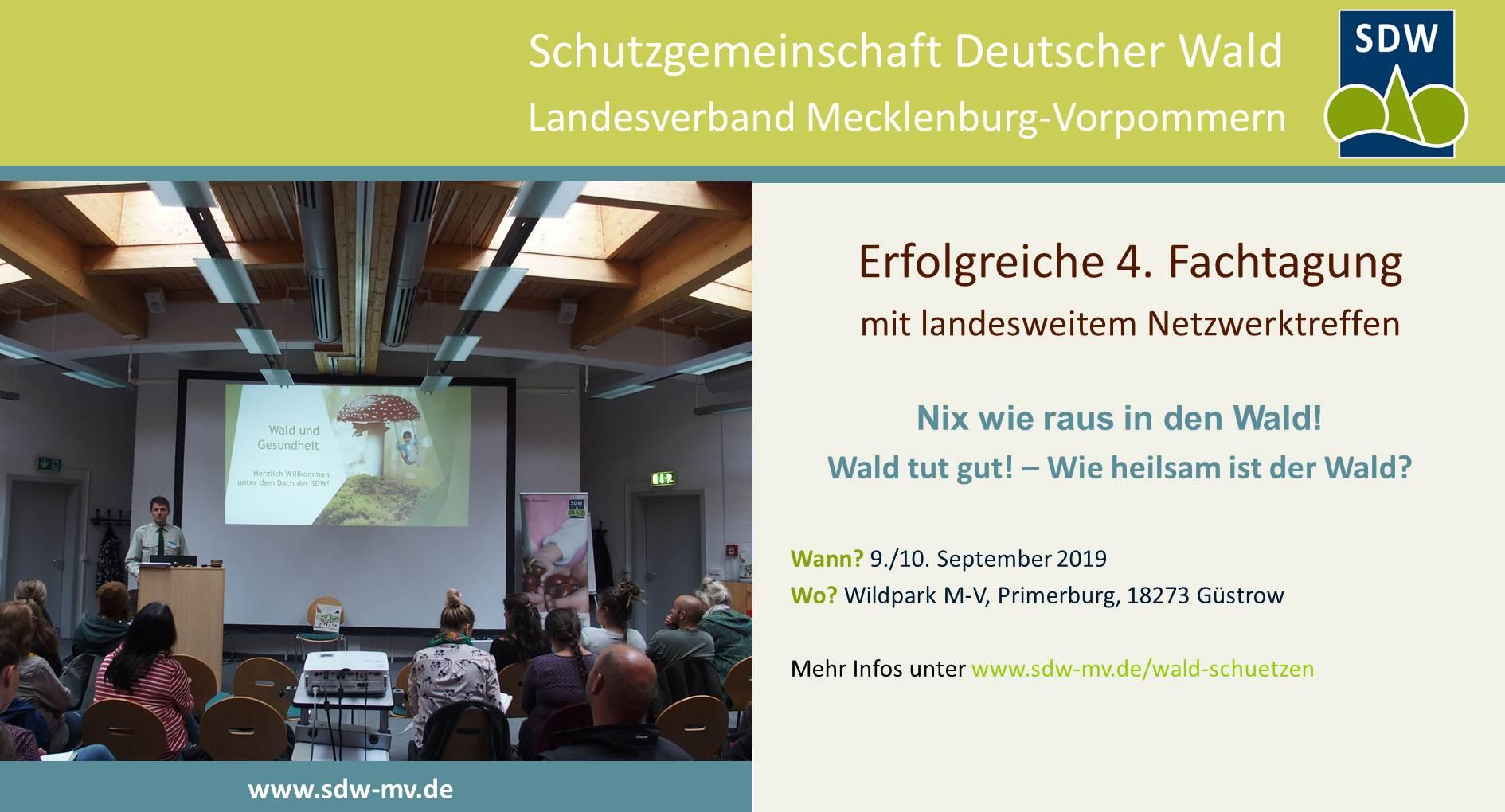 Fachtagung 2019 - Foto Vortrag Wald und Gesundheit